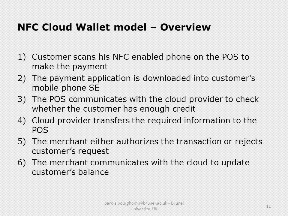 NFC Cloud Wallet model – Overview