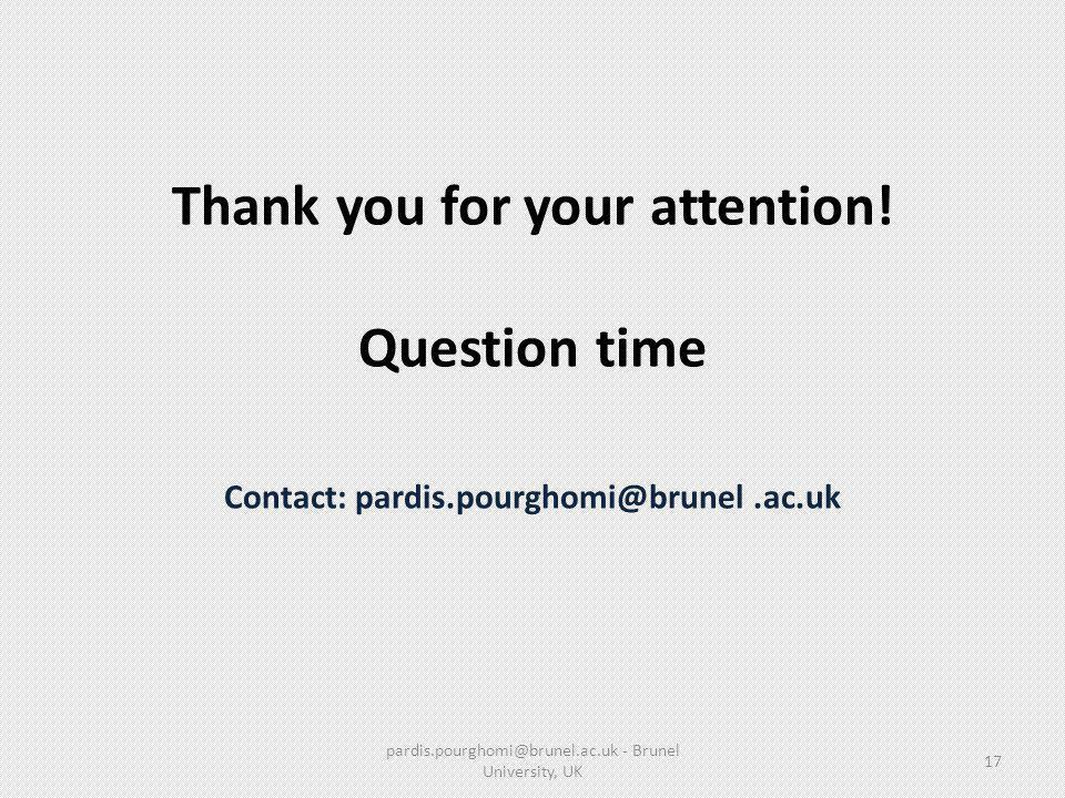 pardis.pourghomi@brunel.ac.uk - Brunel University, UK