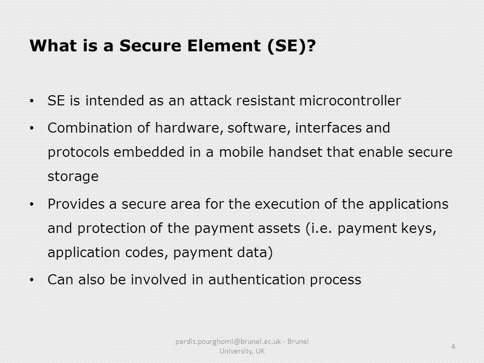 What is a Secure Element (SE)