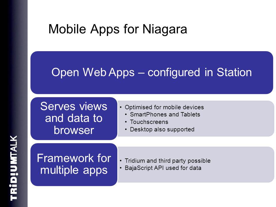 Mobile Apps for Niagara