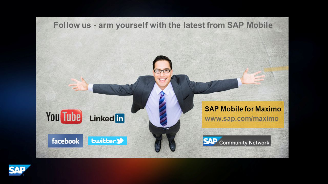 Appendix Follow us - arm yourself with the latest from SAP Mobile