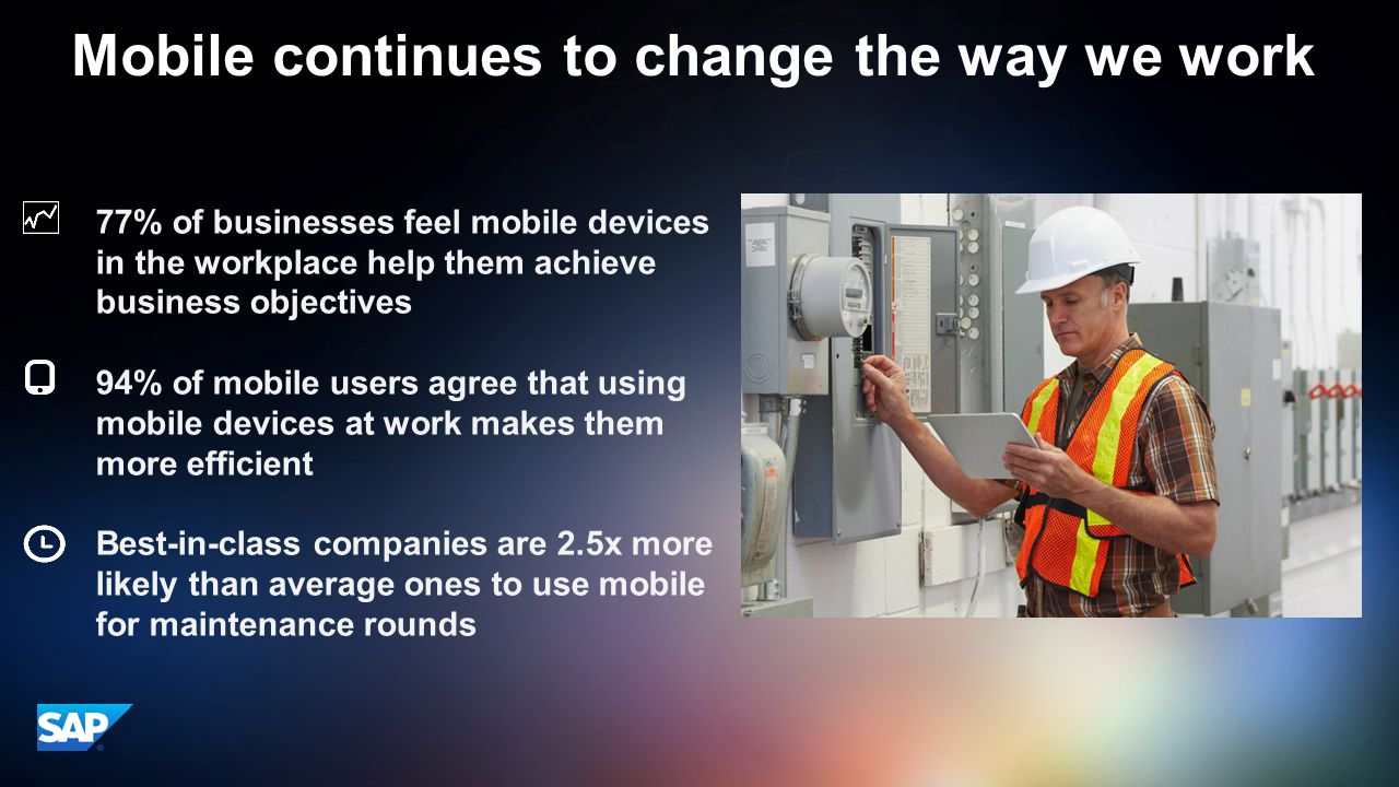 Mobile continues to change the way we work