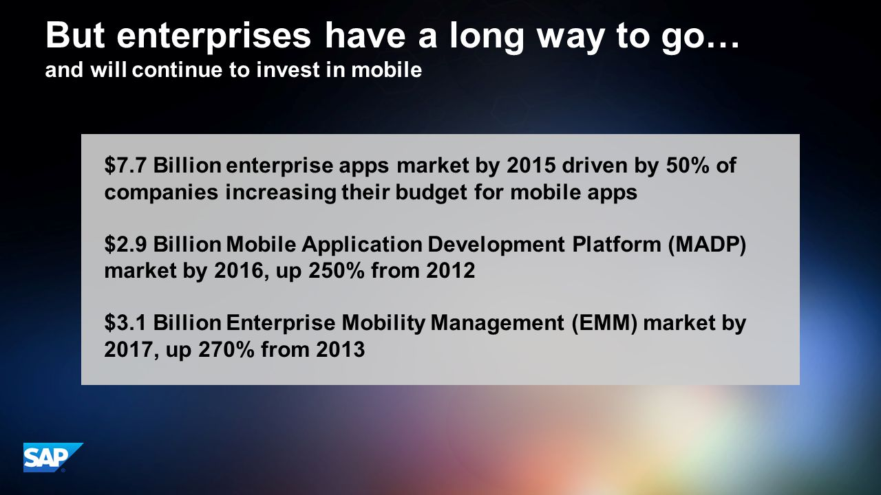 But enterprises have a long way to go…