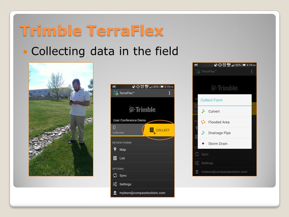 Trimble TerraFlex Collecting data in the field