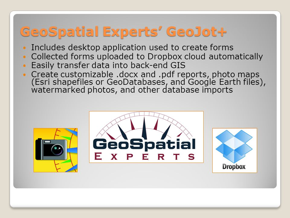 GeoSpatial Experts' GeoJot+