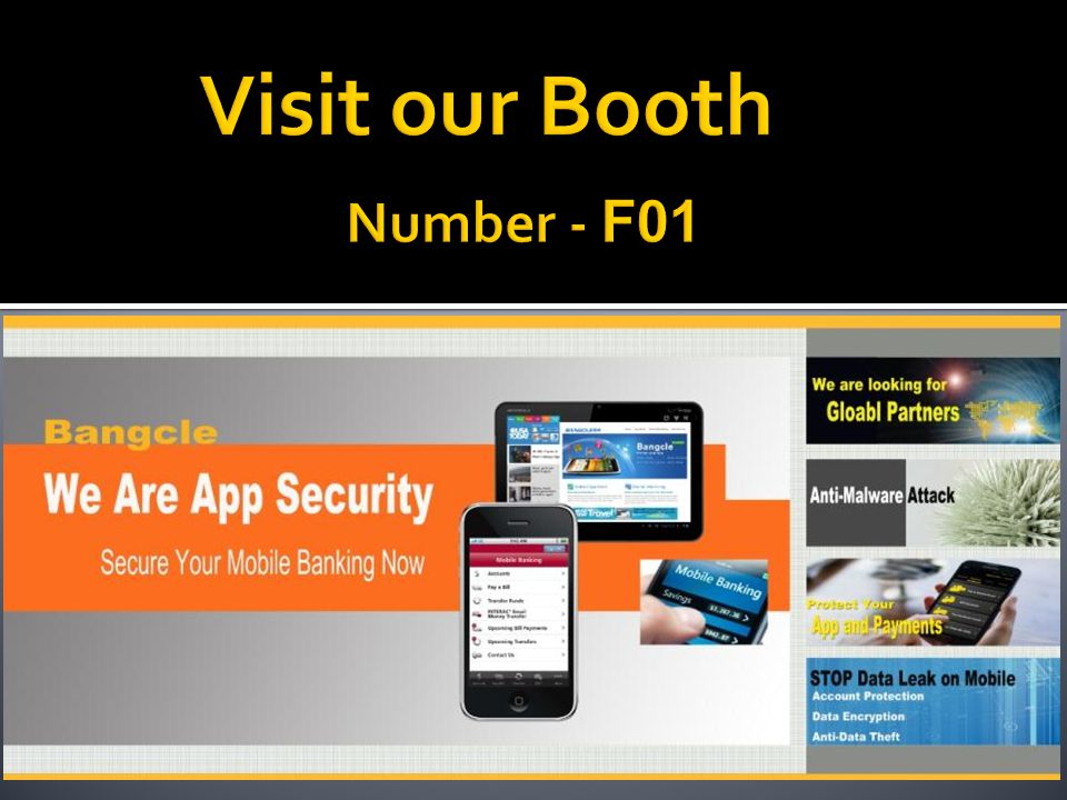 Visit our Booth Number - F01