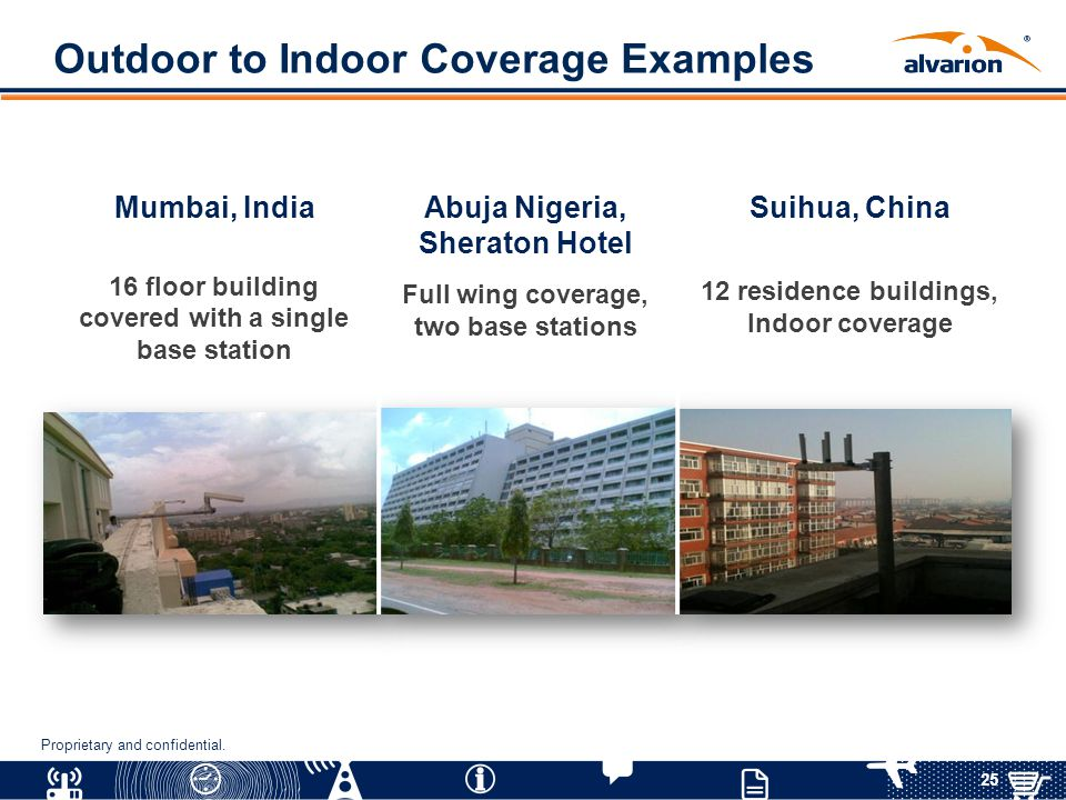 Outdoor to Indoor Coverage Examples