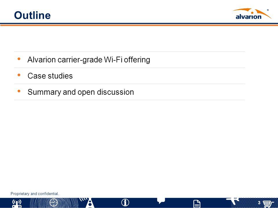 Outline Alvarion carrier-grade Wi-Fi offering Case studies
