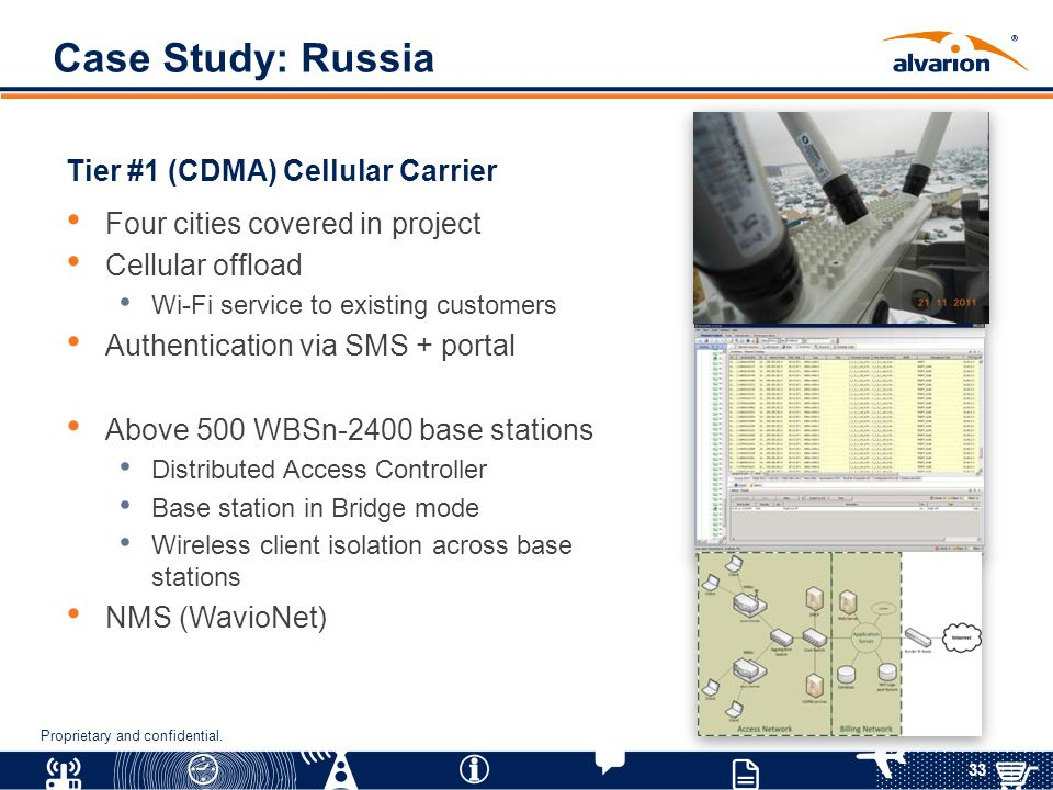 Case Study: Russia Tier #1 (CDMA) Cellular Carrier