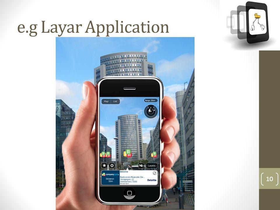 e.g Layar Application