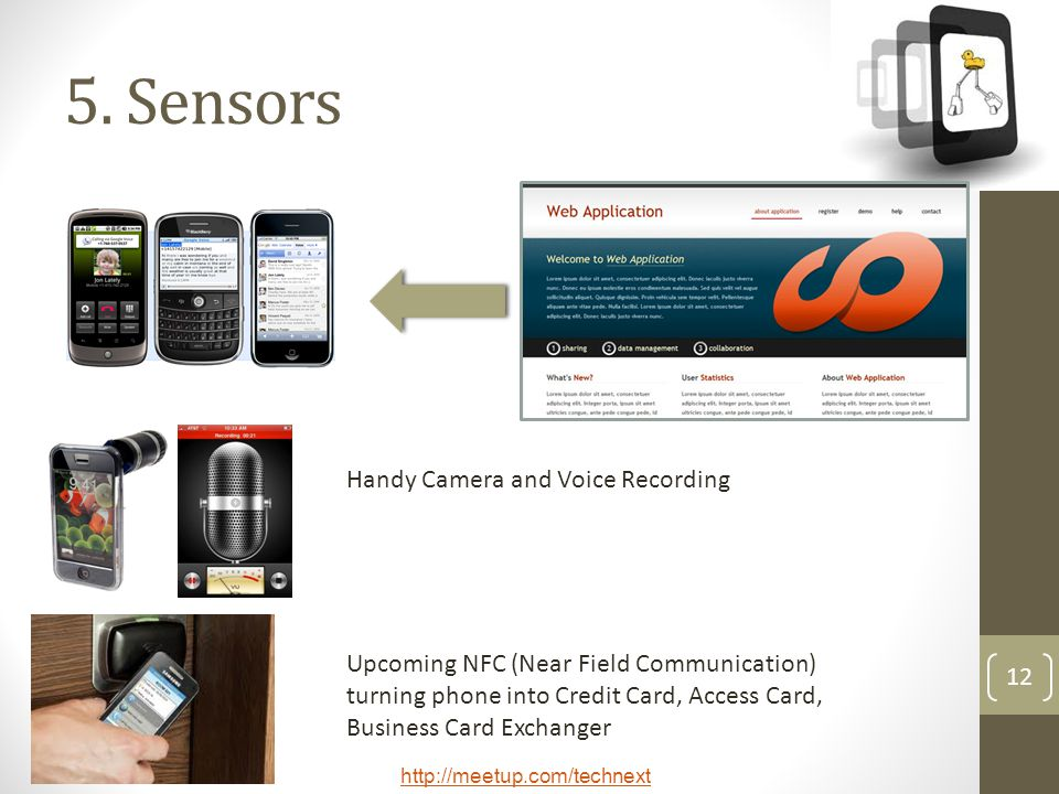 5. Sensors Handy Camera and Voice Recording