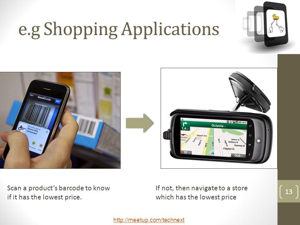 e.g Shopping Applications