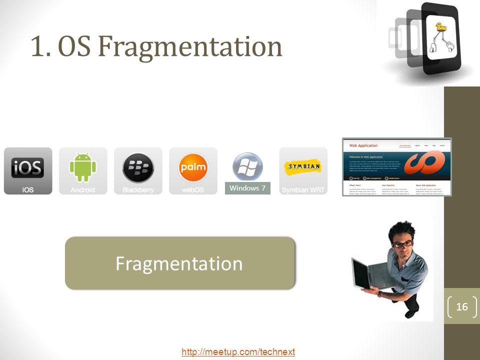 1. OS Fragmentation Windows 7 Fragmentation