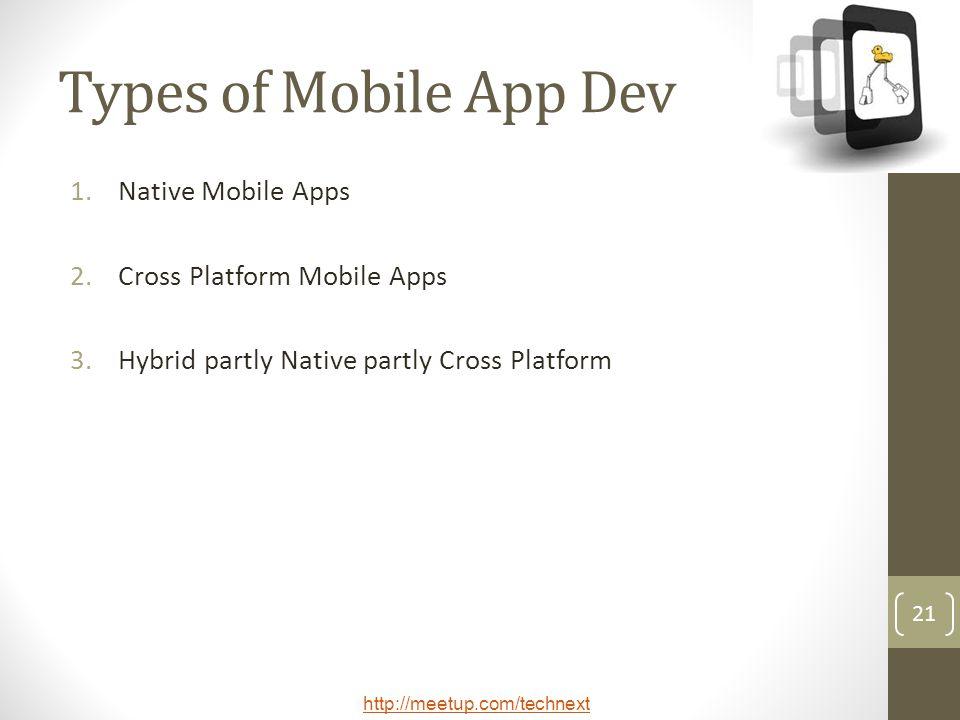Types of Mobile App Dev Native Mobile Apps Cross Platform Mobile Apps