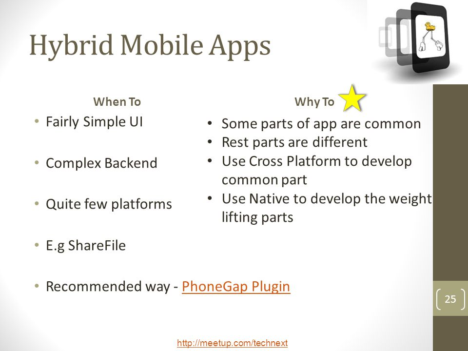 Hybrid Mobile Apps Fairly Simple UI Complex Backend