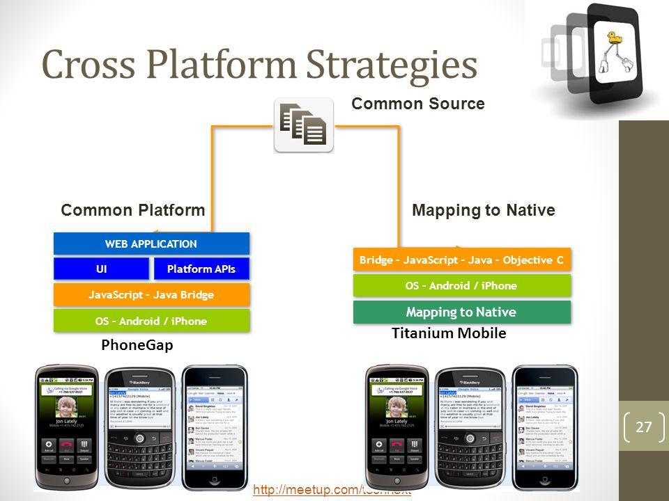 Cross Platform Strategies