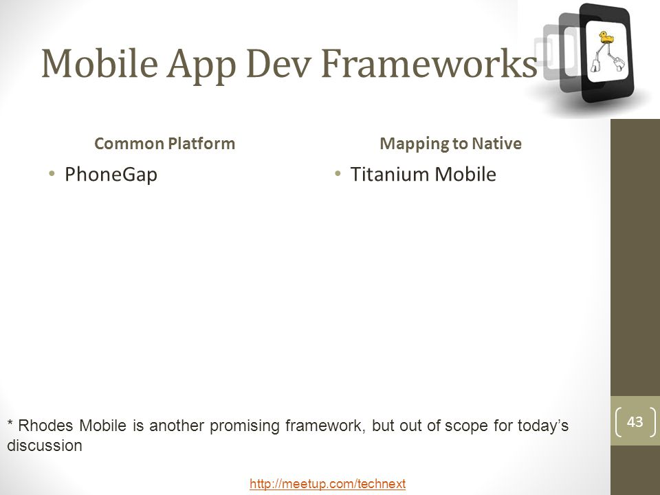 Mobile App Dev Frameworks