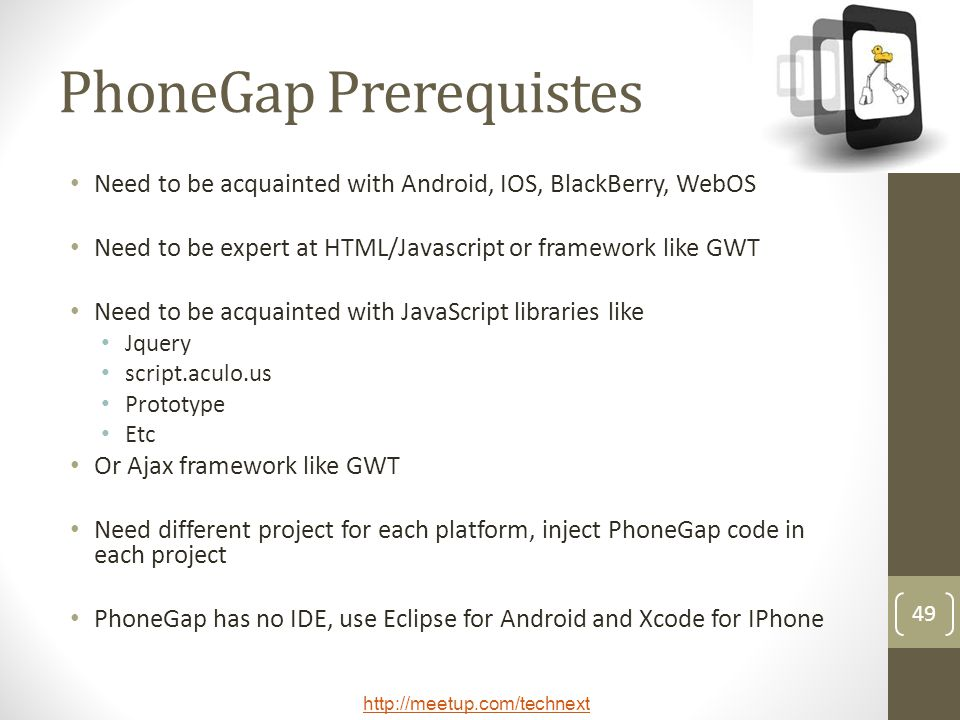 PhoneGap Prerequistes