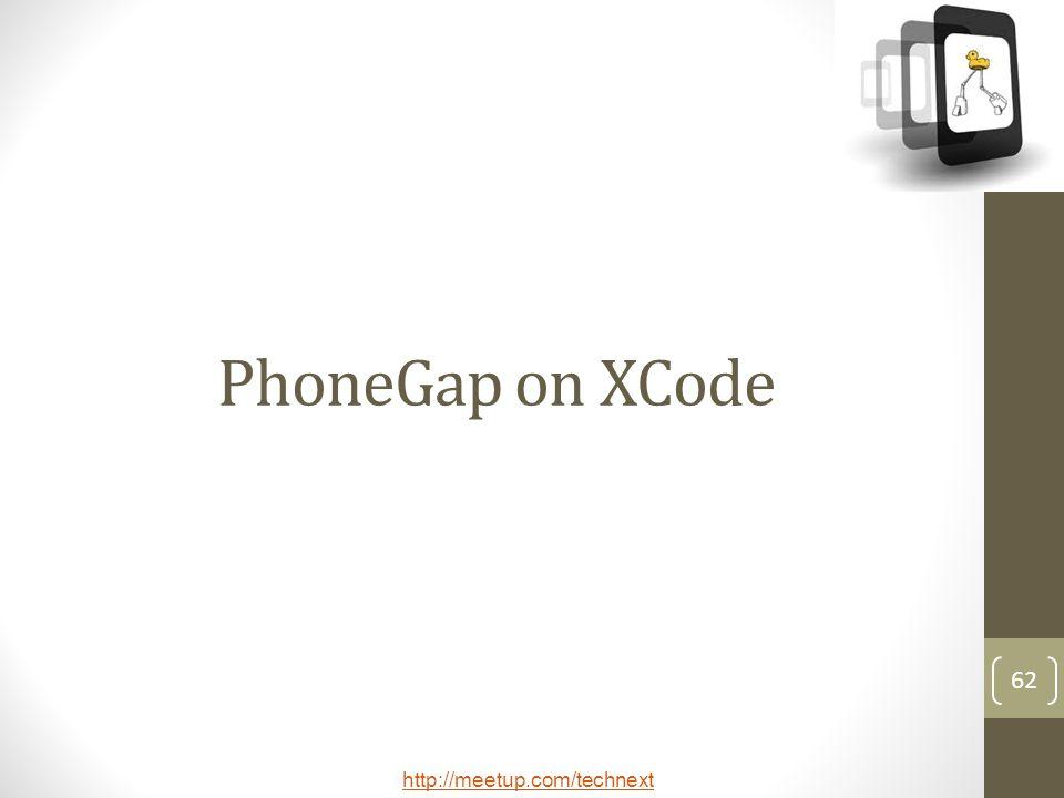 PhoneGap on XCode