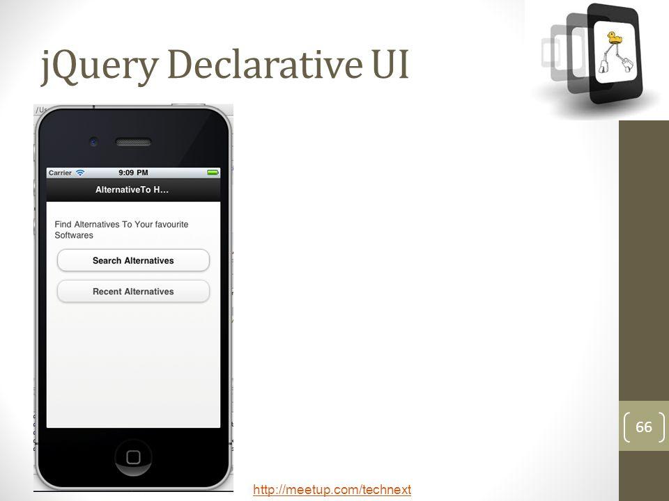 jQuery Declarative UI