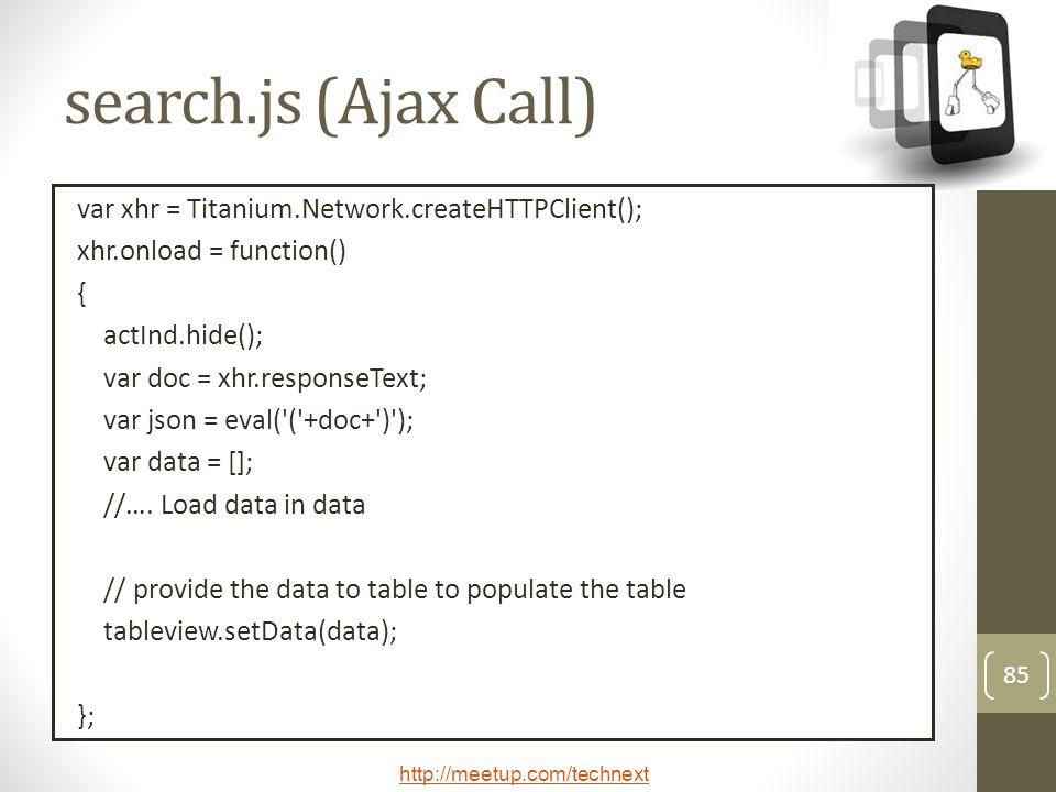 search.js (Ajax Call)
