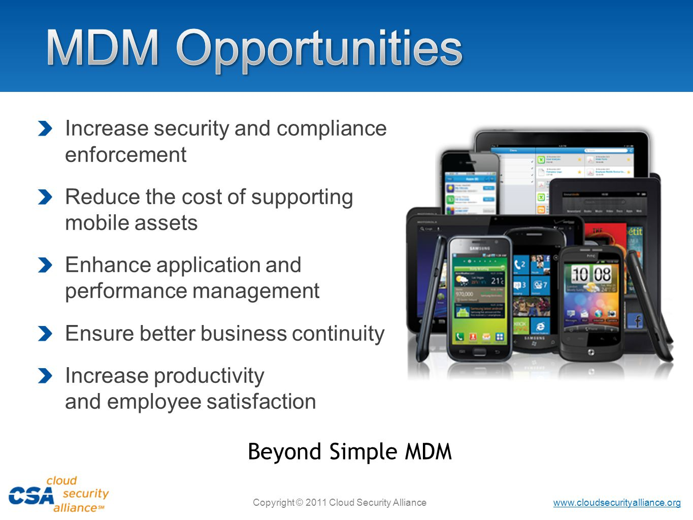 MDM Opportunities Beyond Simple MDM