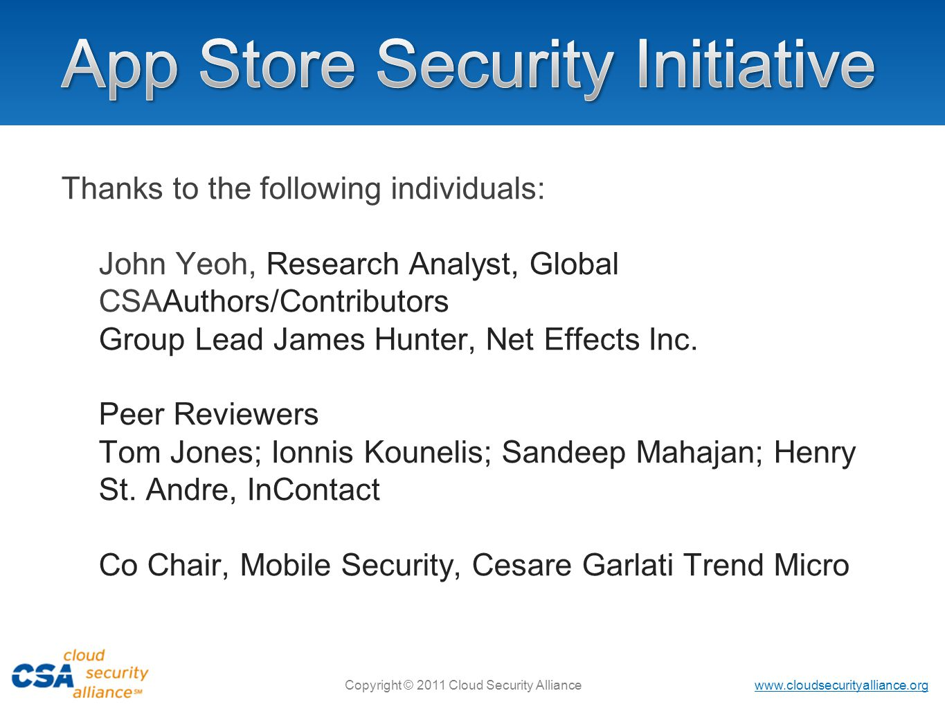 App Store Security Initiative