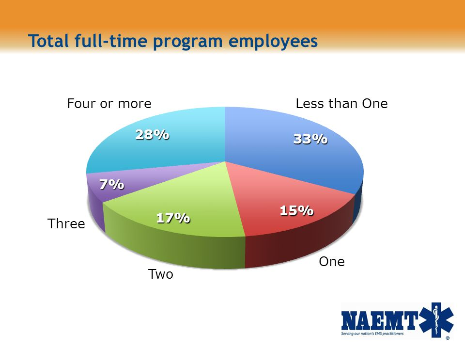 Total full-time program employees