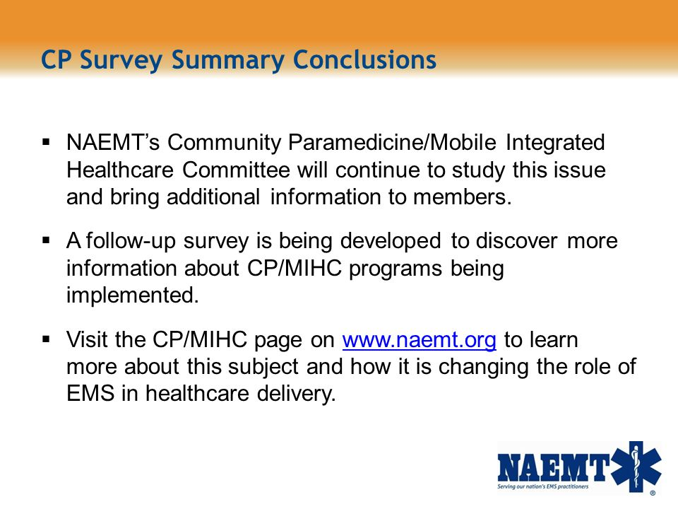 CP Survey Summary Conclusions