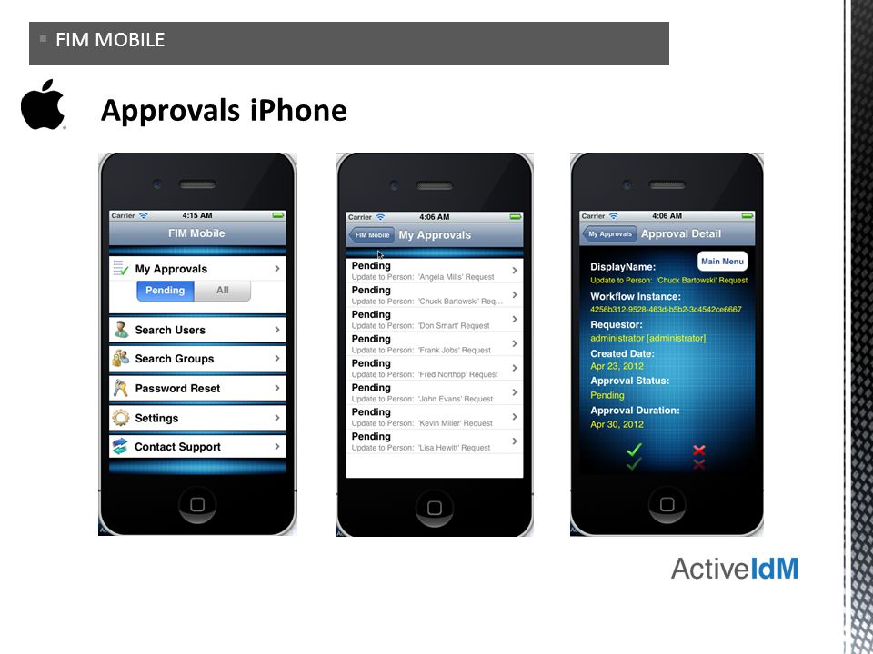FIM MOBILE Approvals iPhone