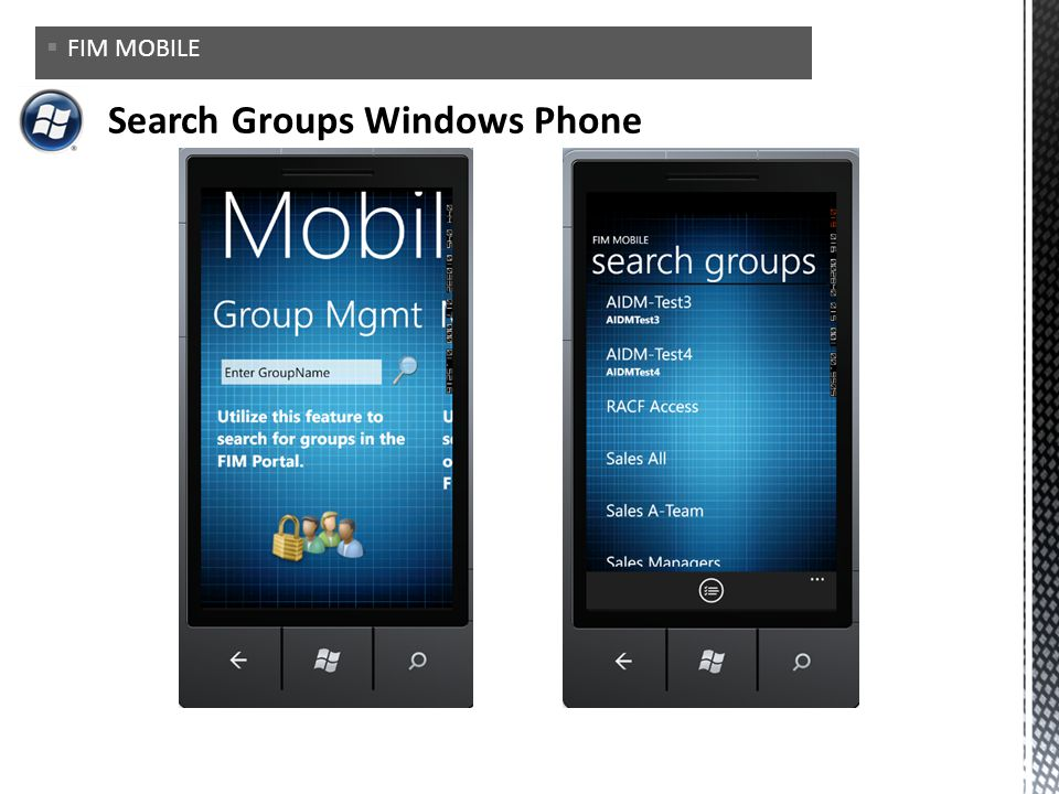 Search Groups Windows Phone