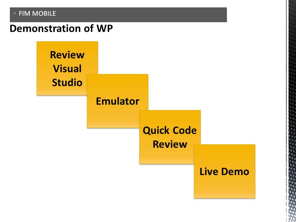 Review Visual Studio Emulator Quick Code Review Live Demo