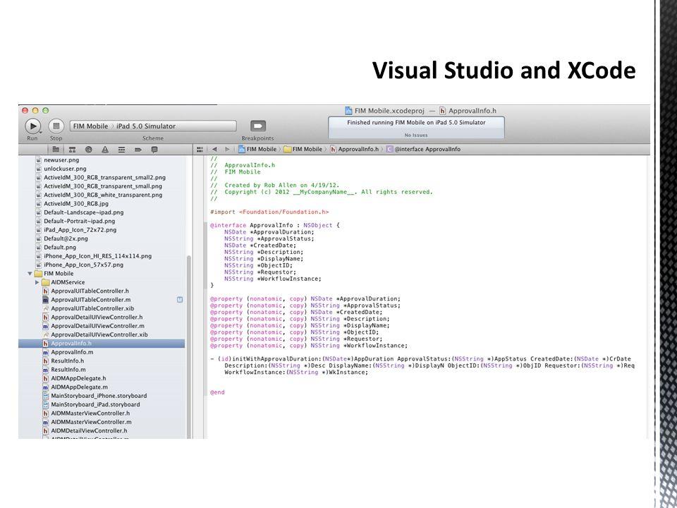 Visual Studio and XCode