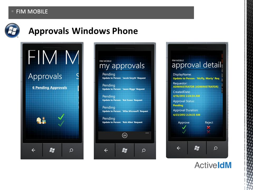 Approvals Windows Phone
