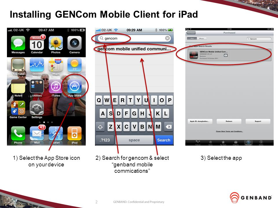 Installing GENCom Mobile Client for iPad