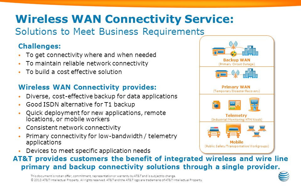 Wireless WAN Connectivity Service: Solutions to Meet Business Requirements