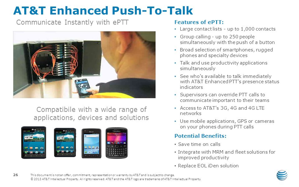 AT&T Enhanced Push-To-Talk