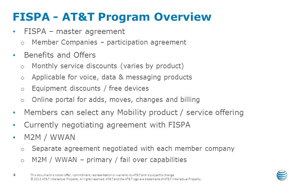 FISPA - AT&T Program Overview
