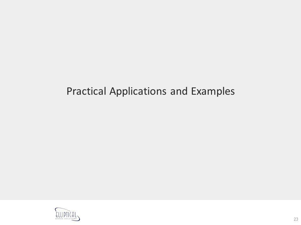 Practical Applications and Examples