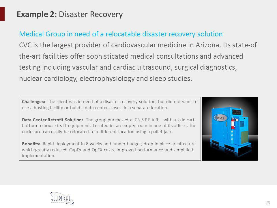 Example 2: Disaster Recovery