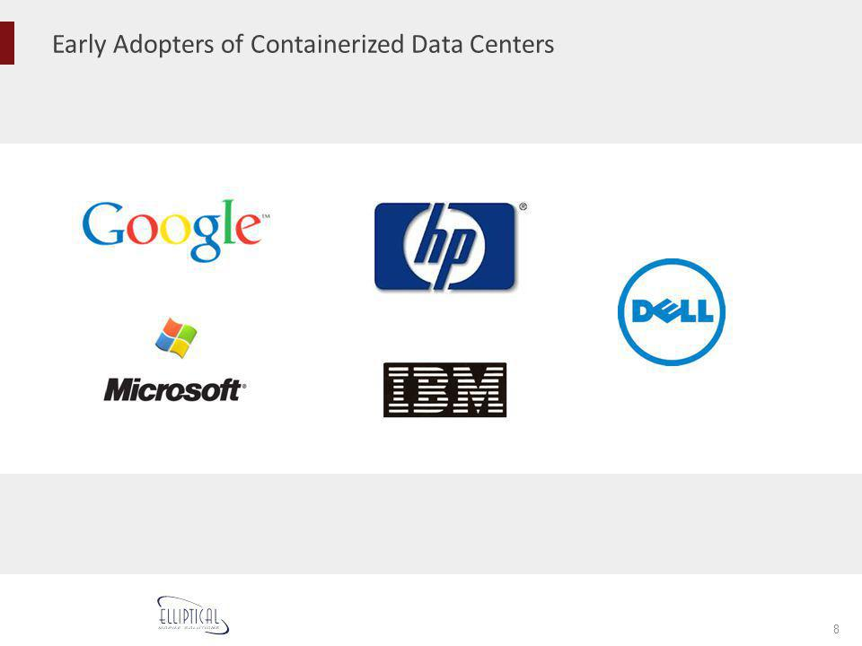 Early Adopters of Containerized Data Centers