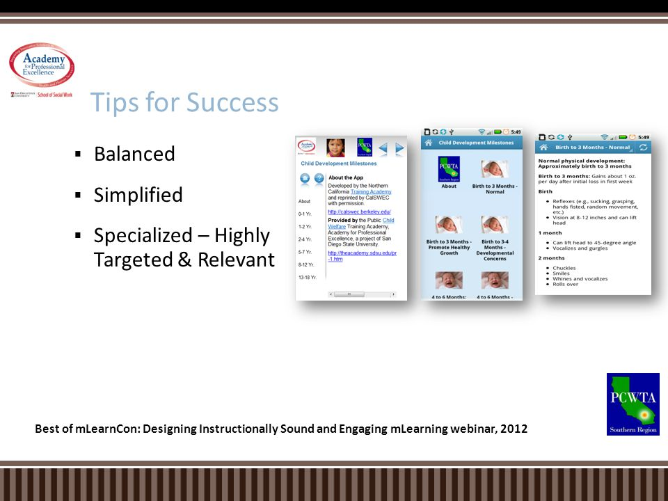 Tips for Success Balanced Simplified