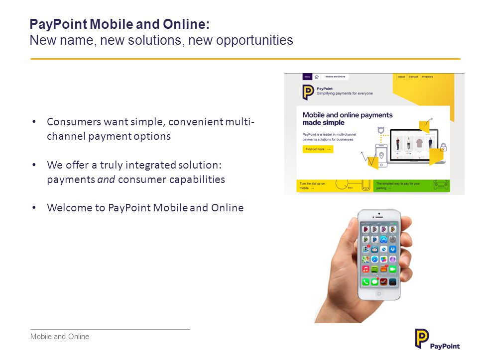 PayPoint Mobile and Online: New name, new solutions, new opportunities