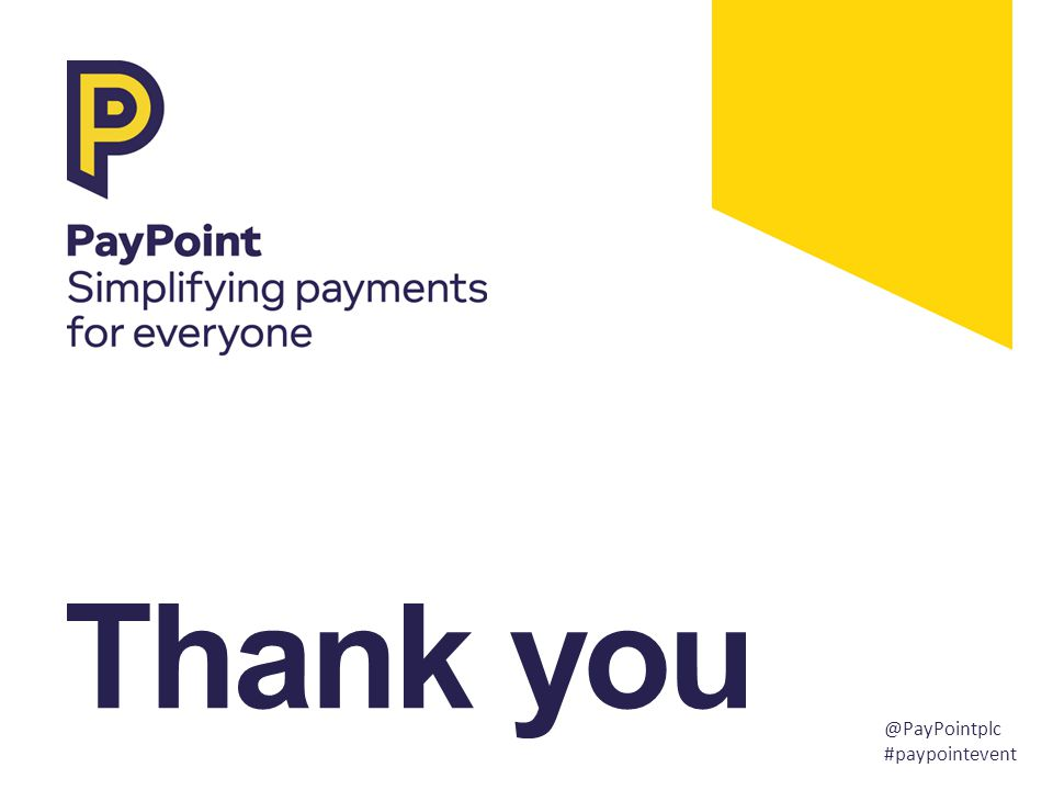 Thank you @PayPointplc #paypointevent