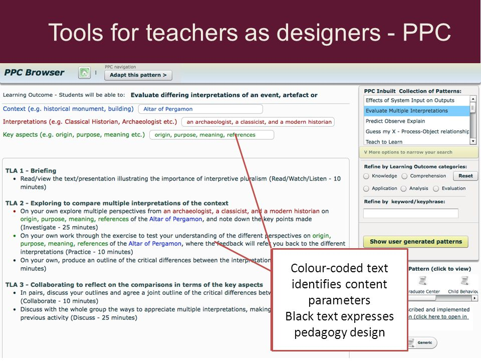 Tools for teachers as designers - PPC