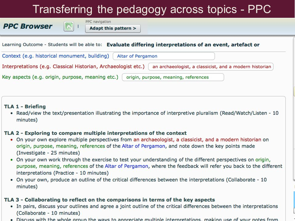 The Pedagogical Patterns Collector