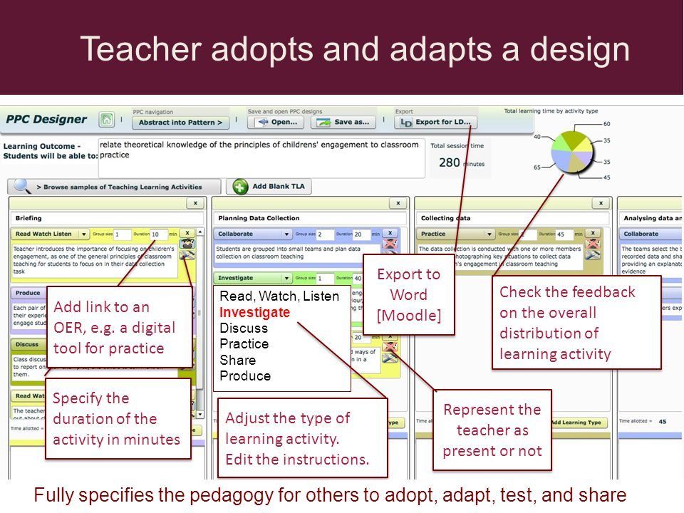 Teacher adopts and adapts a design