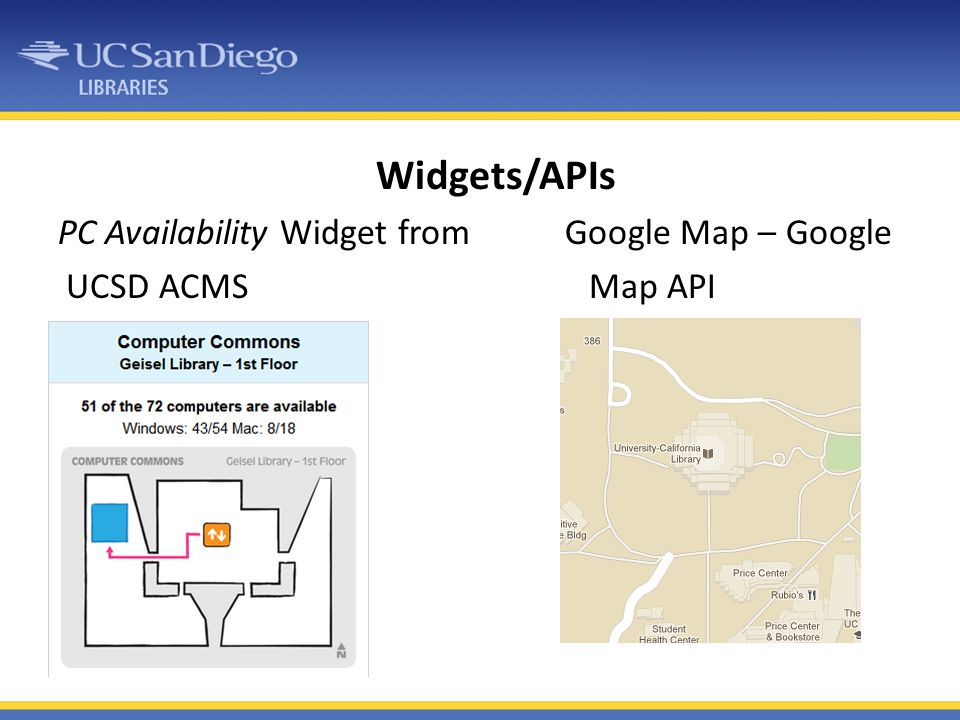 Widgets/APIs PC Availability Widget from Google Map – Google