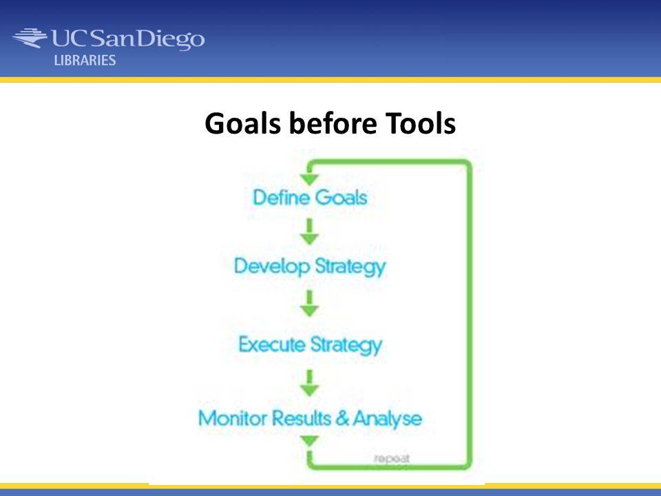 Goals before Tools