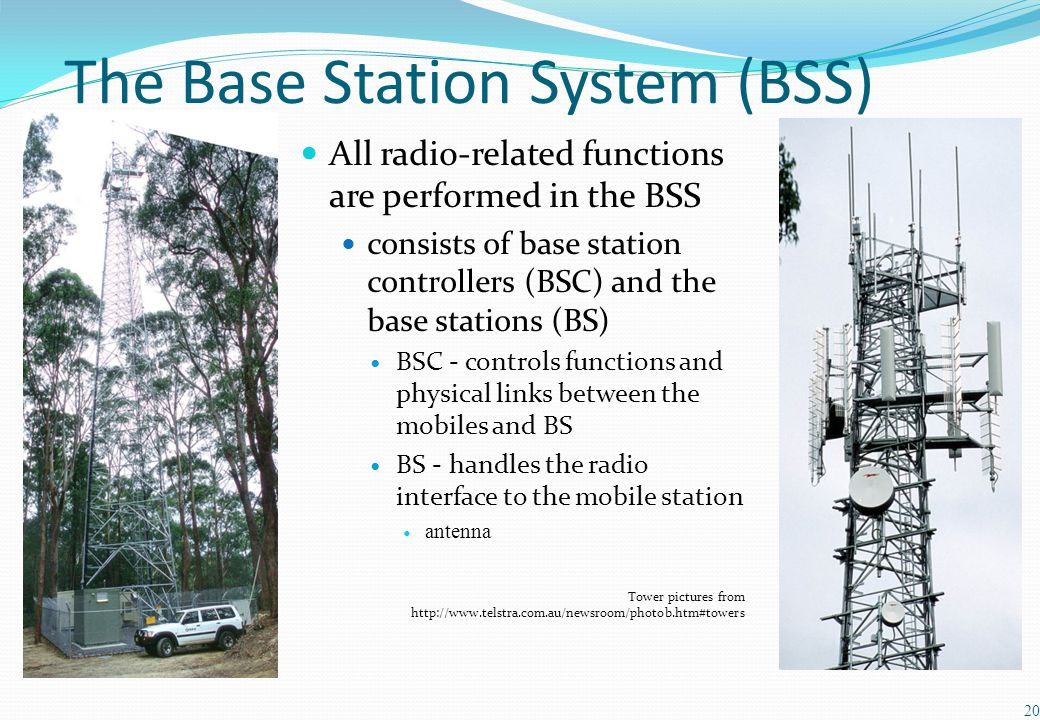 The Base Station System (BSS)